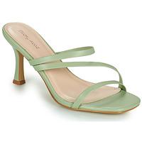 Sapatos Mulher Chinelos Moony Mood OBIUTI Verde / Amêndoa