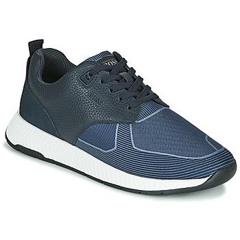 Sapatos Homem Sapatilhas BOSS Titanium_Runn_tbjq 10232903 Azul