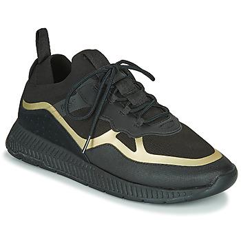 Sapatos Homem Sapatilhas BOSS TITANIUM RUNN KNTH Preto / Ouro