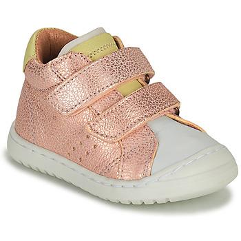 Sapatos Rapariga Sapatilhas Bisgaard TATE Rosa / Ouro