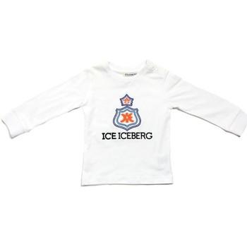 Textil Rapaz T-shirt mangas compridas Iceberg TSICE0316B Branco