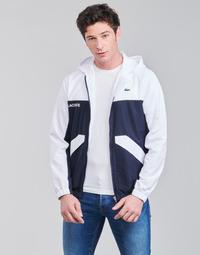 Textil Homem Jaquetas Lacoste SHANNA Marinho / Branco