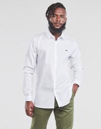 Textil Homem Camisas mangas comprida Lacoste PITTA Branco