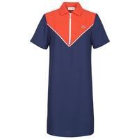 Textil Mulher Vestidos curtos Lacoste FRITTI Vermelho / Azul