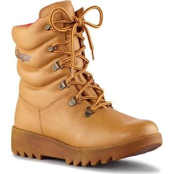Sapatos Mulher Botas baixas Cougar Pillow Leather Tan