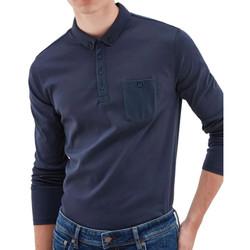Textil Homem Polos mangas compridas Teddy Smith  Azul