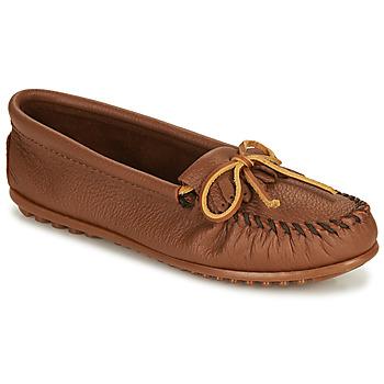 Sapatos Mulher Mocassins Minnetonka DEERSKIN KILTY Bege