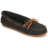 Sapatos Mulher Mocassins Minnetonka BOAT MOC Preto