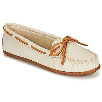 Sapatos Mulher Mocassins Minnetonka BOAT MOC Branco