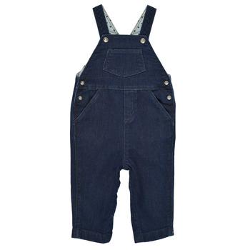 Textil Rapaz Macacões/ Jardineiras Petit Bateau MILIBERT Azul