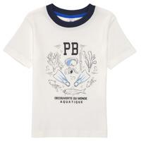 Textil Rapaz T-Shirt mangas curtas Petit Bateau MARCO Branco