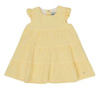 Textil Rapariga Vestidos curtos Petit Bateau MERINGUE Amarelo