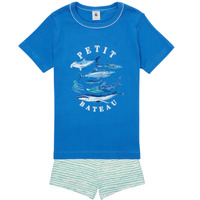 Textil Rapaz Pijamas / Camisas de dormir Petit Bateau MAYONNAISE Multicolor