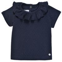 Textil Rapariga T-Shirt mangas curtas Petit Bateau MELISSA Marinho