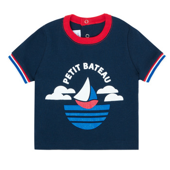 Textil Rapaz T-Shirt mangas curtas Petit Bateau MENU Marinho