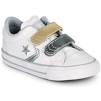Sapatos Rapariga Sapatilhas Converse STAR PLAYER 2V METALLIC LEATHER OX Branco