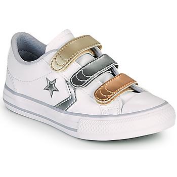 Sapatos Rapariga Sapatilhas Converse STAR PLAYER 3V METALLIC LEATHER OX Branco