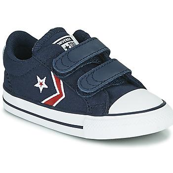 Sapatos Rapaz Sapatilhas Converse STAR PLAYER 2V TEXTILE DISTORT OX Azul / Vermelho