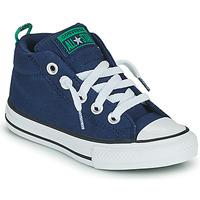 Sapatos Criança Sapatilhas de cano-alto Converse CHUCK TAYLOR ALL STAR STREET CANVAS COLOR MID Azul