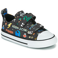 Sapatos Rapaz Sapatilhas Converse CHUCK TAYLOR ALL STAR 2V BOYS GAMER OX Preto / Multicolor