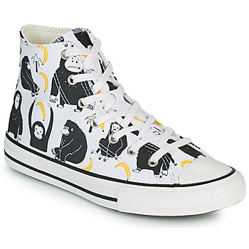 Sapatos Criança Sapatilhas de cano-alto Converse CHUCK TAYLOR ALL STAR GOING BANANAS HI Branco / Multicolor