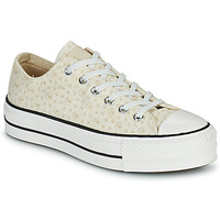 Sapatos Mulher Sapatilhas Converse CHUCK TAYLOR ALL STAR LIFT CANVAS BRODERIE OX Branco