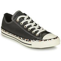 Sapatos Mulher Sapatilhas Converse CHUCK TAYLOR ALL STAR ARCHIVE DETAILS OX Preto / Leopardo