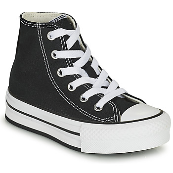 Sapatos Rapariga Sapatilhas de cano-alto Converse CHUCK TAYLOR ALL STAR EVA LIFT CANVAS COLOR HI Preto