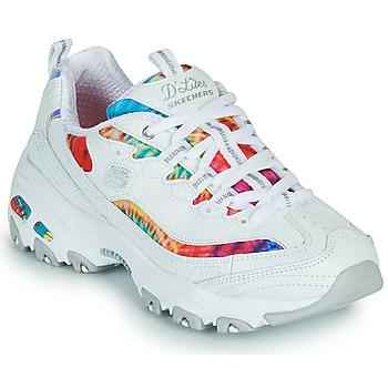 Sapatos Mulher Sapatilhas Skechers D'LITES SUMMER FIESTA Branco / Multicolor