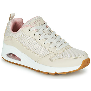 Sapatos Mulher Sapatilhas Skechers UNO INSIDE MATTERS Bege / Rosa