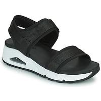 Sapatos Mulher Sandálias Skechers UNO Preto