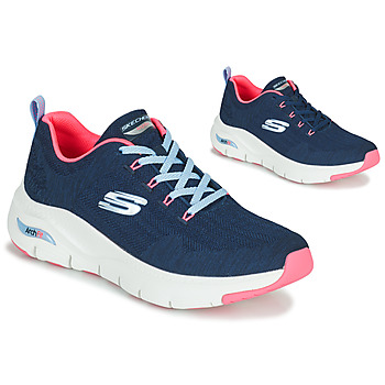 Sapatos Mulher Sapatilhas Skechers ARCH FIT Marinho / Rosa