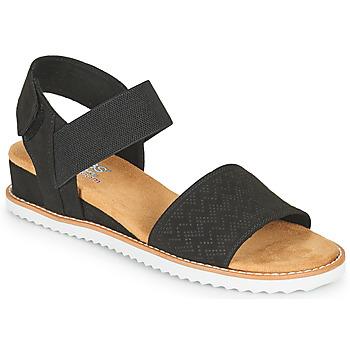 Sapatos Mulher Sandálias Skechers DESERT KISS Preto