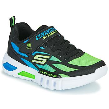 Sapatos Rapaz Sapatilhas Skechers FLEX-GLOW Preto / Azul / Verde
