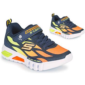 Sapatos Rapaz Sapatilhas Skechers FLEX-GLOW Marinho / Laranja