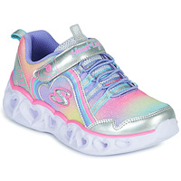 Sapatos Rapariga Sapatilhas Skechers HEART LIGHTS RAINBOW LUX Prata / Rosa