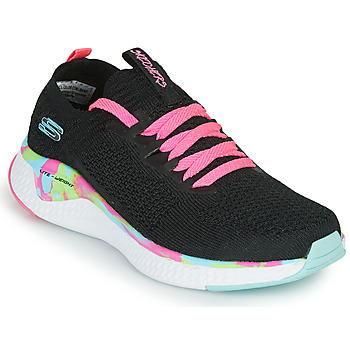 Sapatos Rapariga Sapatilhas Skechers SOLAR FUSE Preto / Rosa