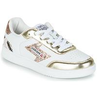Sapatos Mulher Sapatilhas Le Temps des Cerises FLASH Branco / Ouro