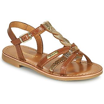 Sapatos Rapariga Sandálias Les Tropéziennes par M Belarbi BADAMI Camel / Dourado