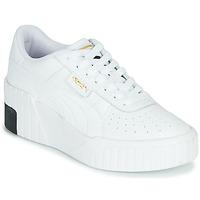 Sapatos Mulher Sapatilhas Puma CALI WEDGE Branco / Preto