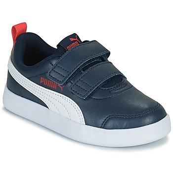 Sapatos Rapaz Sapatilhas Puma COURTFLEX PS Preto