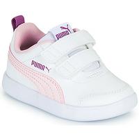 Sapatos Rapariga Sapatilhas Puma COURTFLEX INF Branco / Rosa