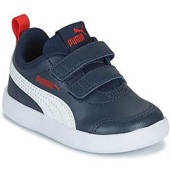Sapatos Rapaz Sapatilhas Puma COURTFLEX INF Preto