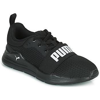 Sapatos Rapaz Sapatilhas Puma WIRED PS Preto
