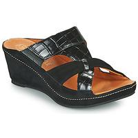 Sapatos Mulher Chinelos Mam'Zelle DINAMO Preto