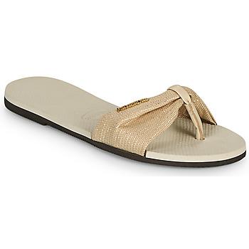 Sapatos Mulher Chinelos Havaianas YOU ST TROPEZ SHINE Bege