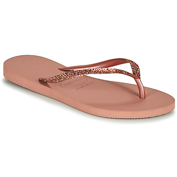 Sapatos Mulher Chinelos Havaianas SLIM GLITTER II Rosa