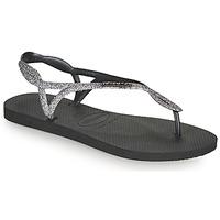 Sapatos Mulher Chinelos Havaianas LUNA PREMIUM II Preto / Cinza