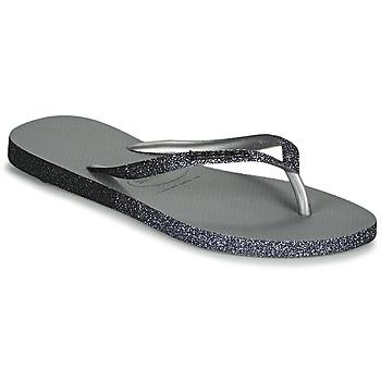 Sapatos Mulher Chinelos Havaianas SLIM SPARKLE II Cinza