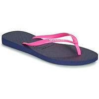 Sapatos Mulher Chinelos Havaianas SLIM LOGO Marinho